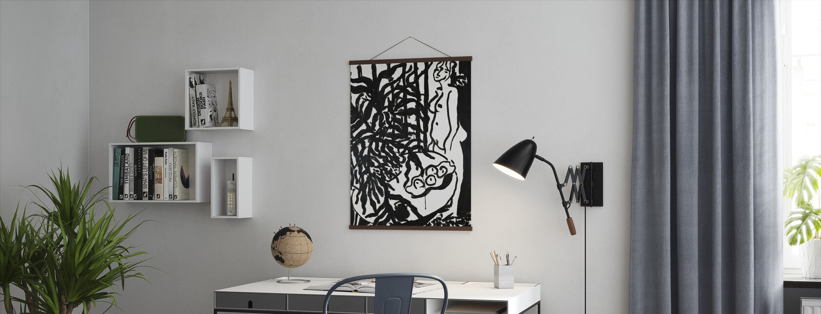 Standing Nude and Black Fern - Henri Matisse - Poster - Office