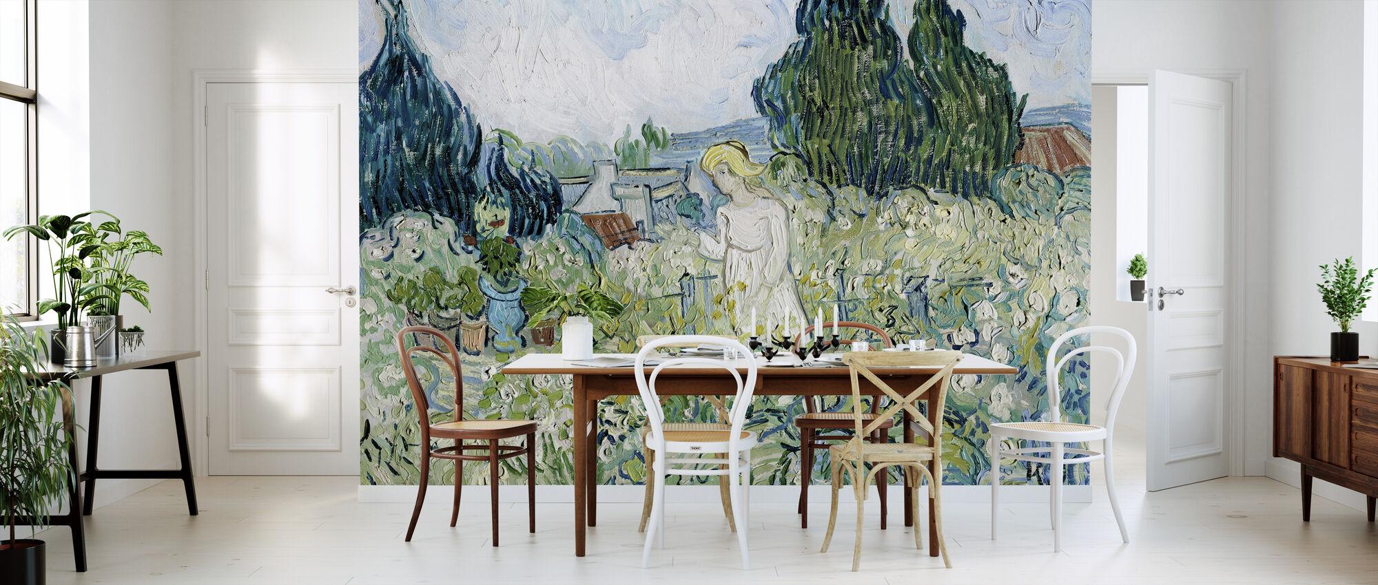 Marguerite Gachet i haven - Vincent van Gogh - Tapet - Køkken