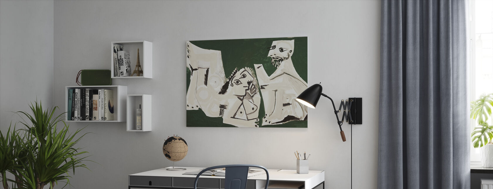 Nu homme et femme - Pablo Picasso - Impression sur toile - Bureau