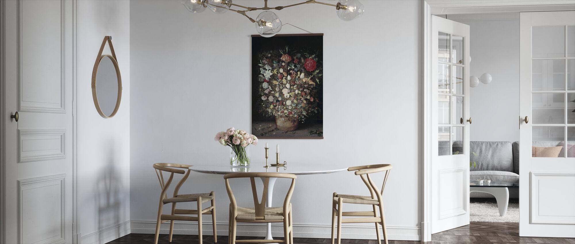 Flowers in a Wooden Vessel - Jan Brueghel the Elder - Poster - Kitchen