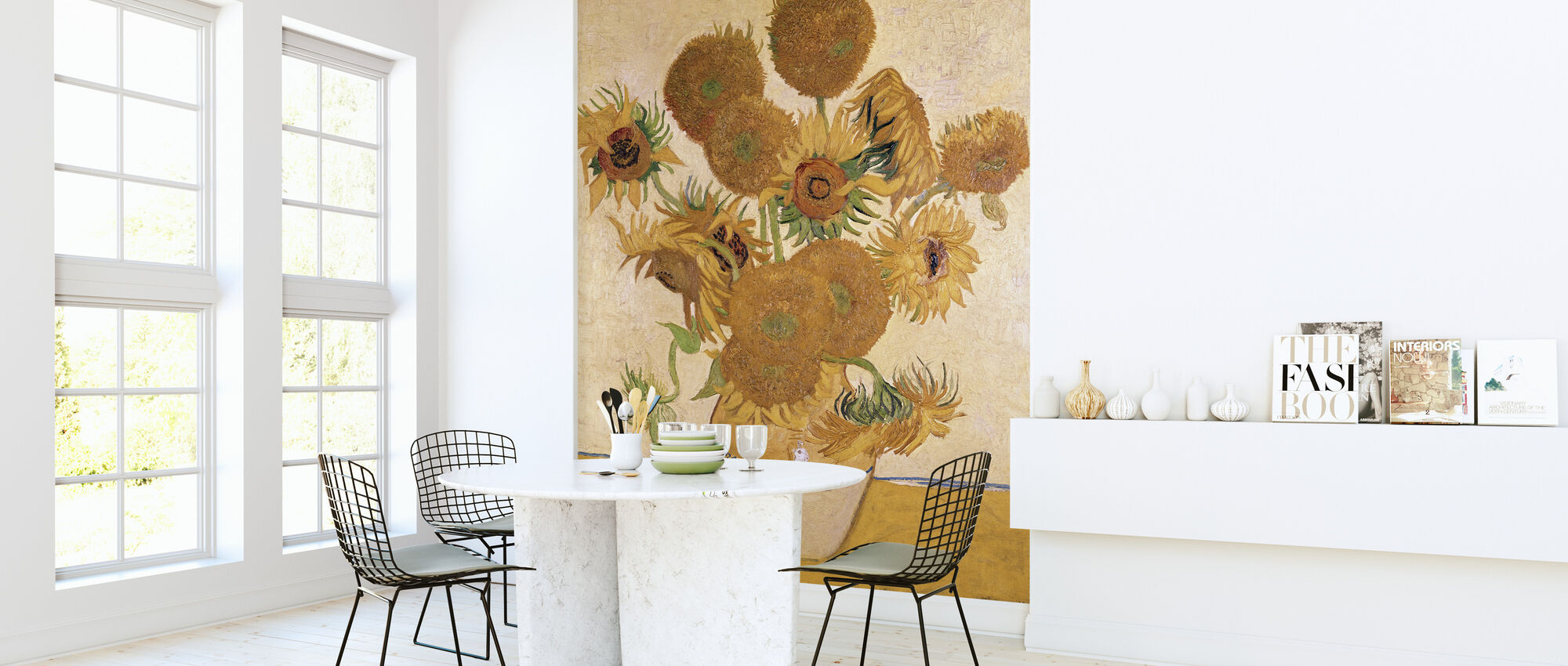 Solsikker - Vincent van Gogh - Tapet - Køkken