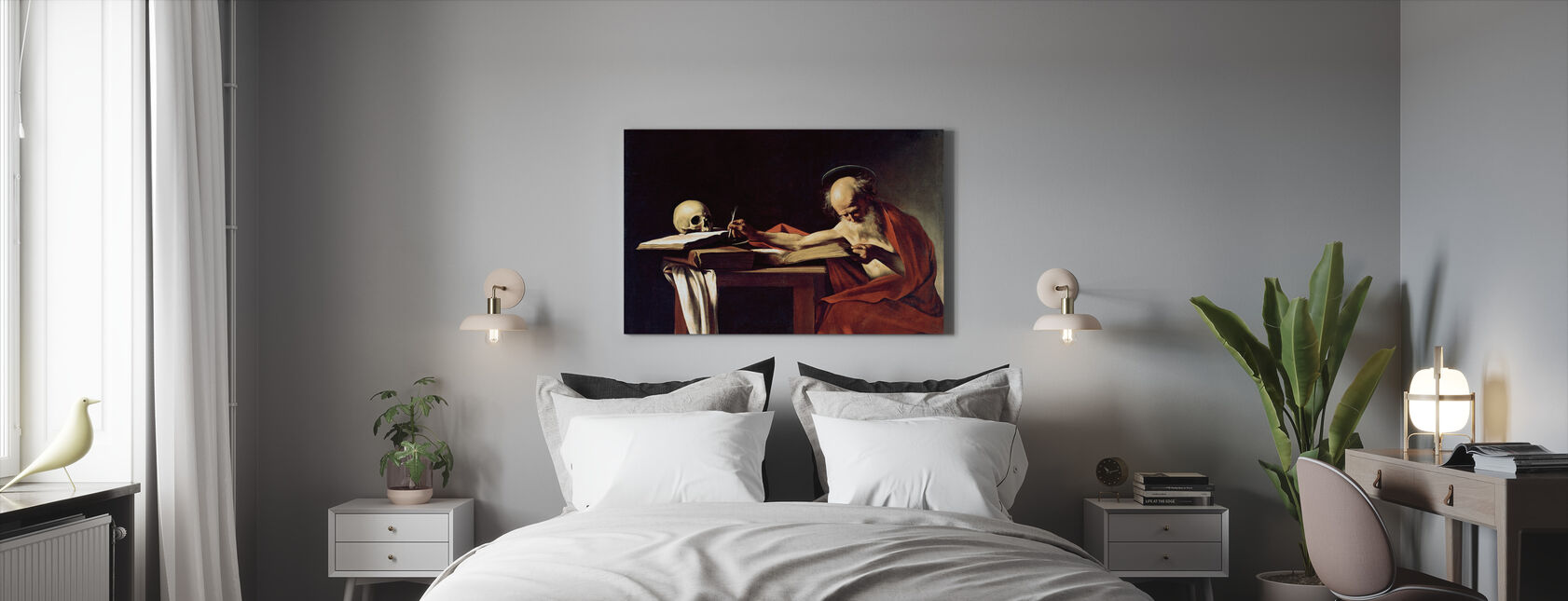 Saint Jerome - Michelangelo Merisi da Caravaggio - Canvas print - Bedroom