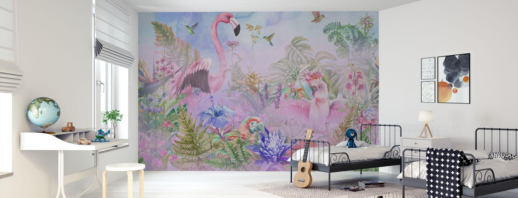 Gigantyczny Flamingo - Tapeta - Pokój dziecięcy