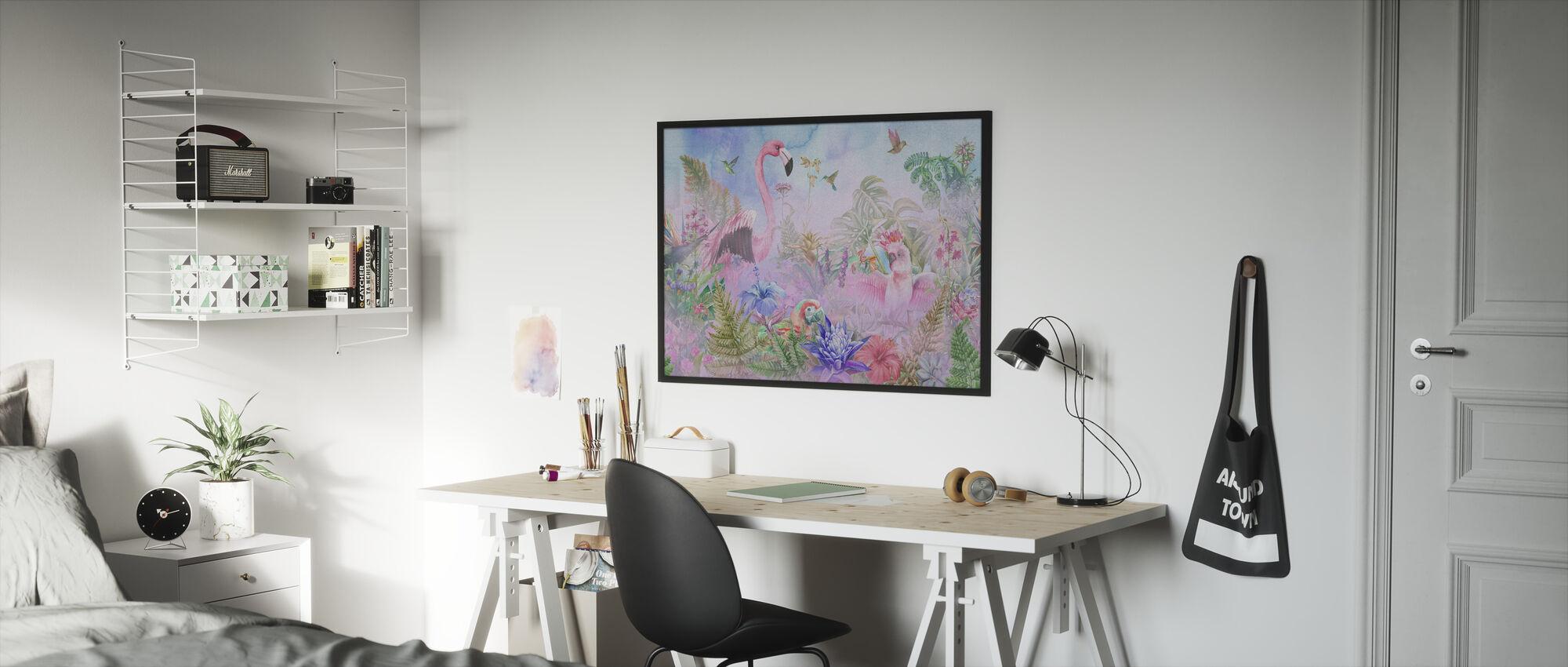 Giganten Flamingo - Innrammet bilde - Barnerom