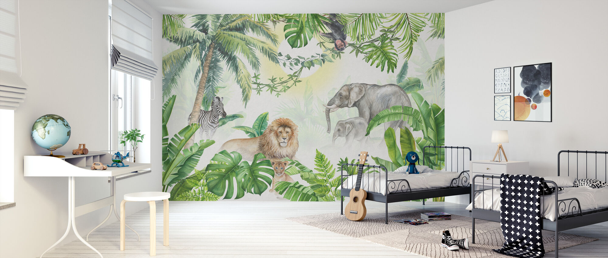 Jungle Animals - Wallpaper - Kids Room