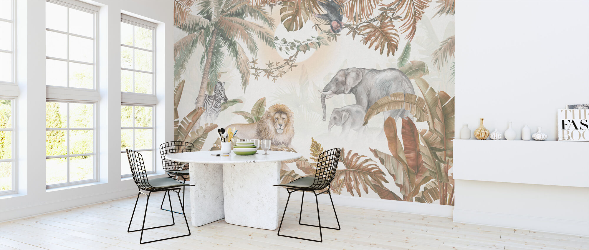 Jungle Animals - Hazel - Wallpaper - Kitchen