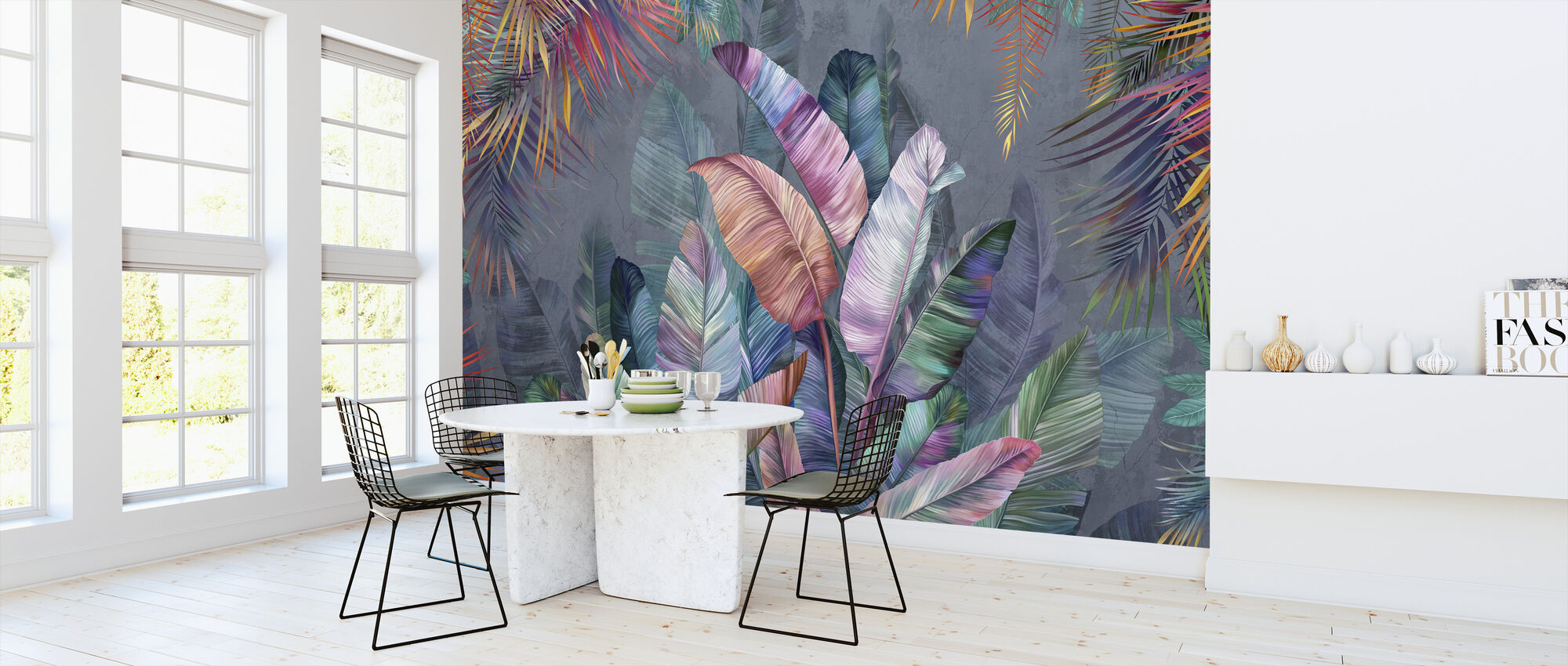 Potpourri Banana Leaves - Wallpaper - Kitchen