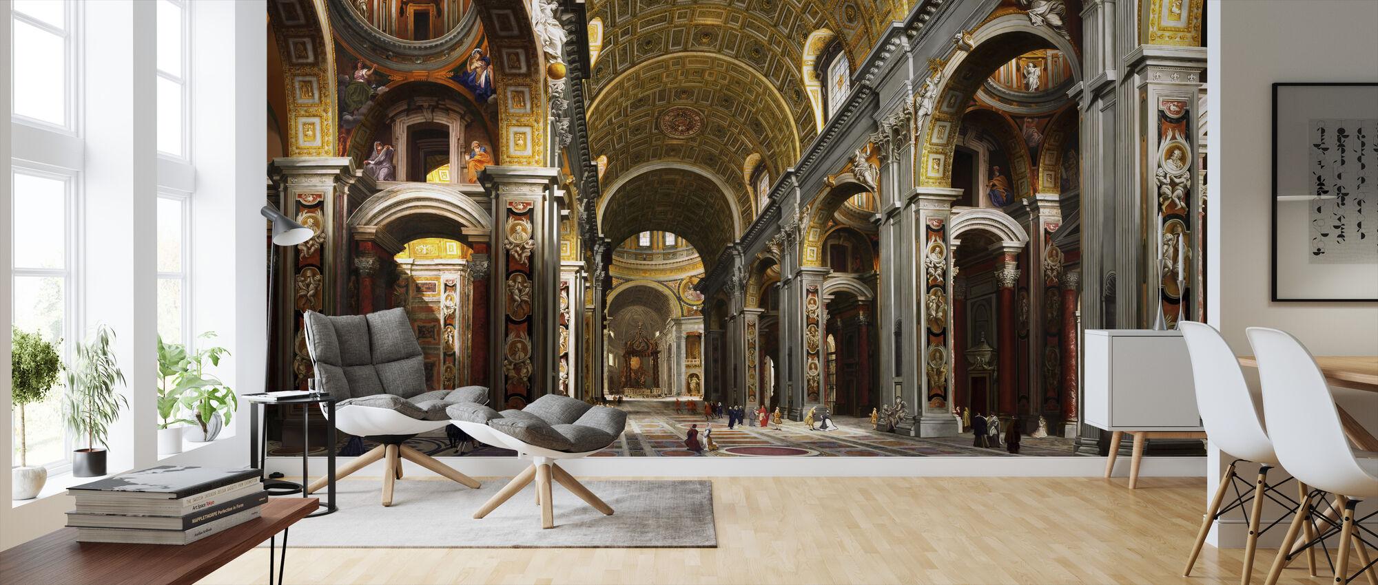 St Peters Basilica - Rome - Wallpaper - Living Room
