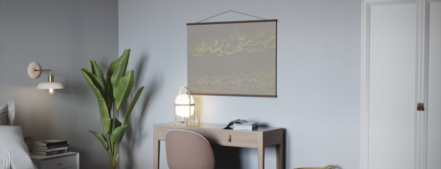 Between Clouds and Earth - Beige - Poster - Office