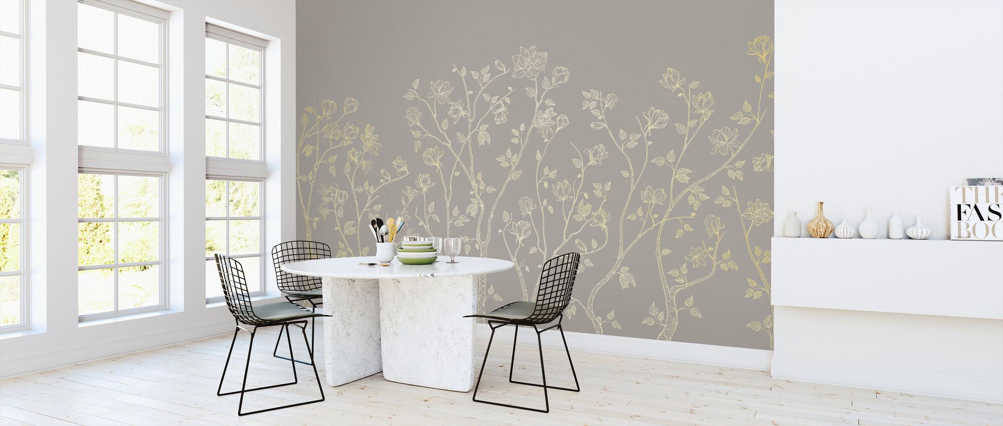 Crescent Vegetative - Beige - Wallpaper - Kitchen