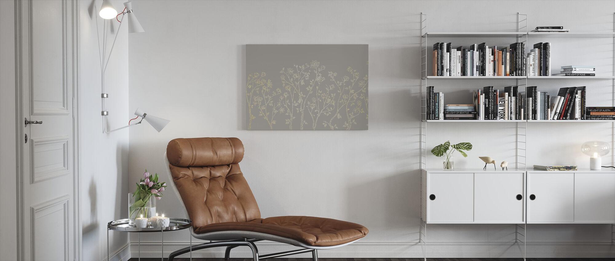 Crescent Vegetative - Beige - Canvas print - Living Room