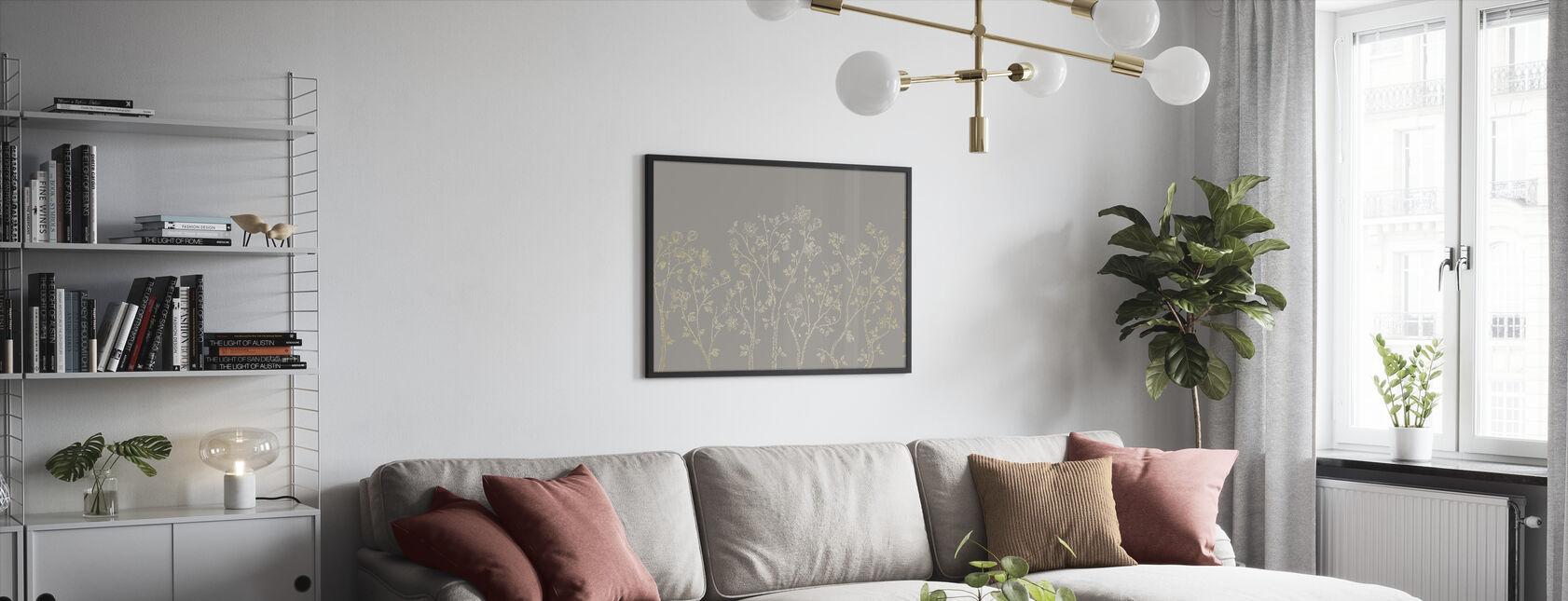 Crescent Vegetative - Beige - Framed print - Living Room