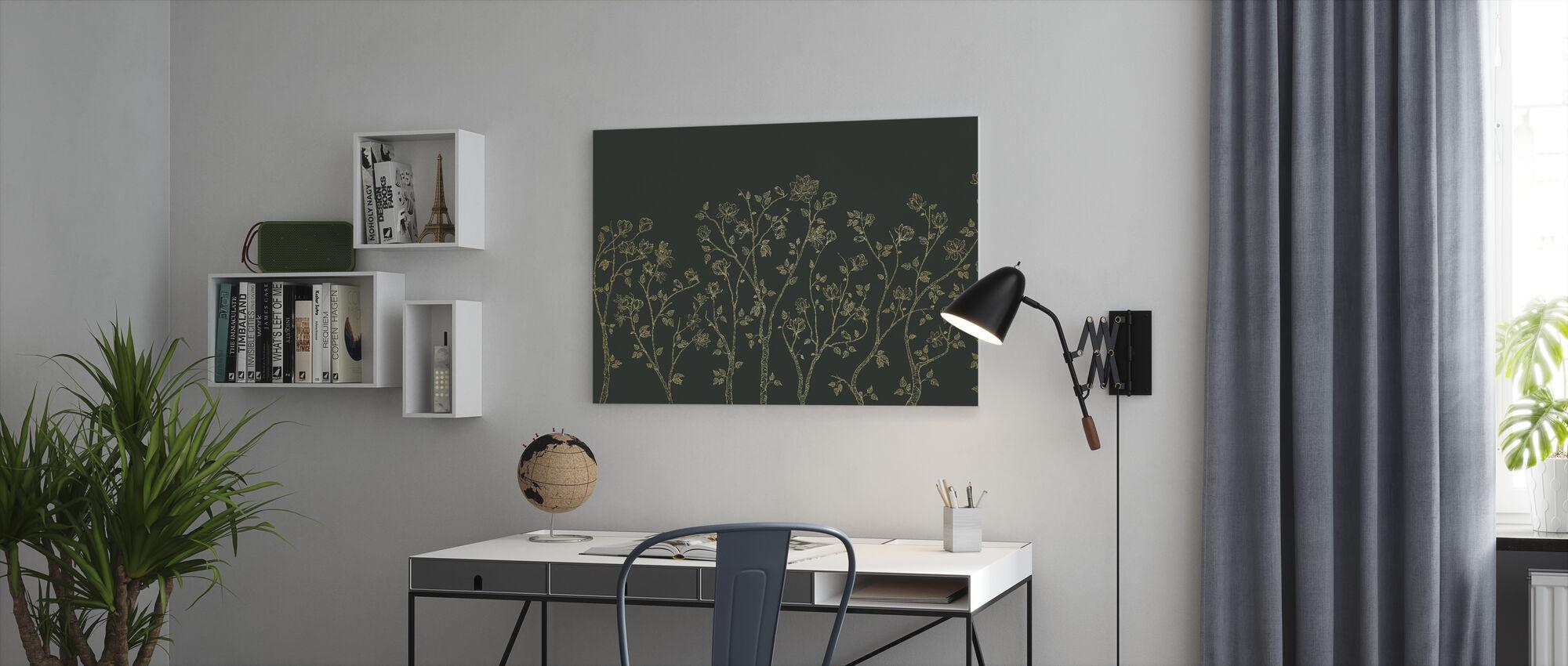 Crescent Vegetative - Green - Canvas print - Office