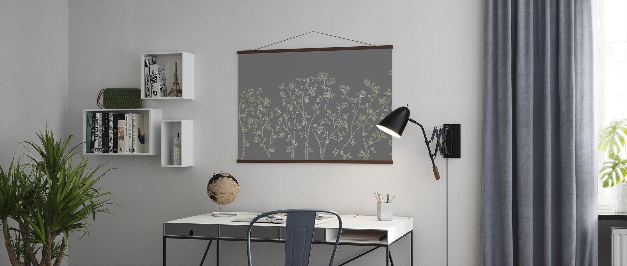 Crescent Vegetative - Grey - Poster - Office
