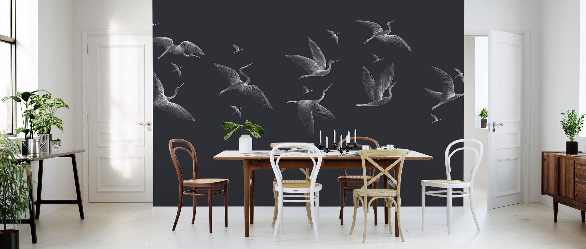 Where We Land - Blue - Wallpaper - Kitchen