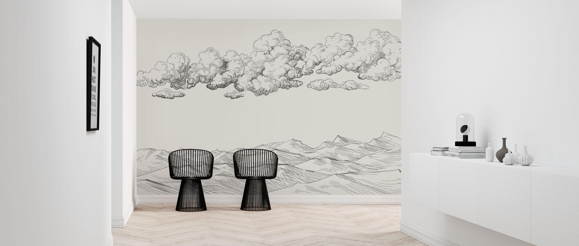 Pilvien ja maan välillä - Kirkas - Tapetti - Aula