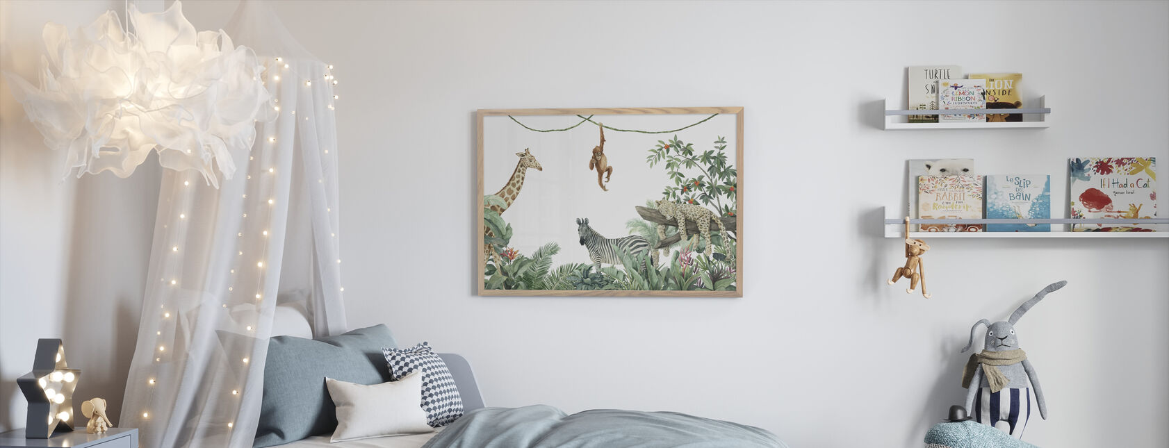 Jungle Friends - Framed print - Kids Room