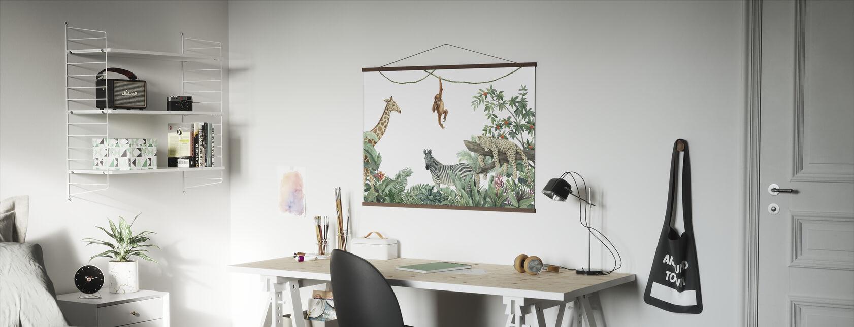 Jungle Vrienden - Poster - Kantoor