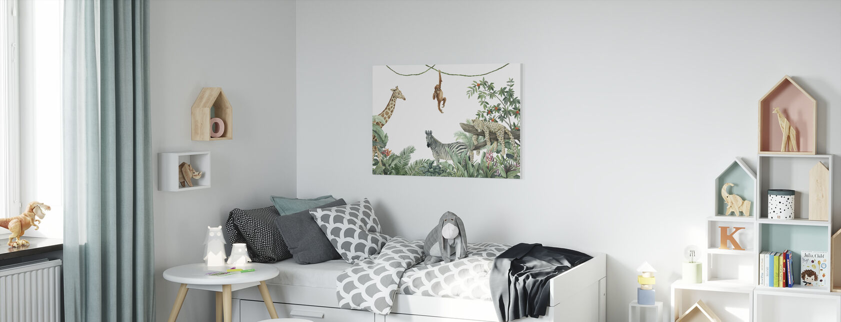 Jungle Vrienden - Canvas print - Kinderkamer