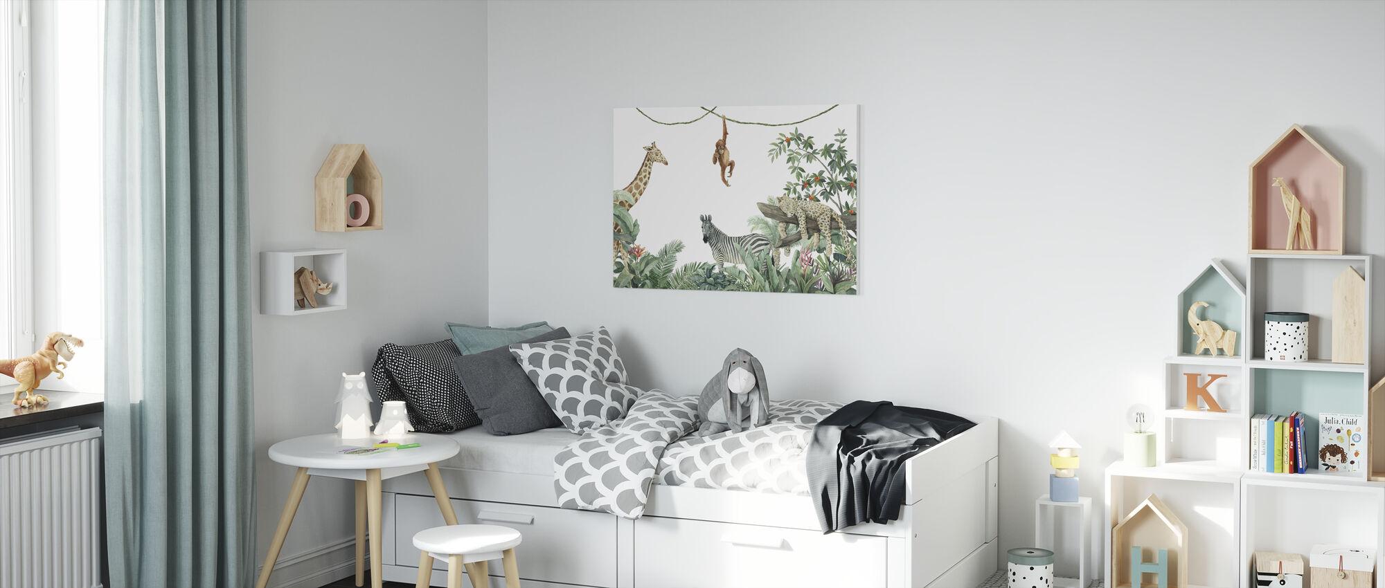 Jungle Friends - Canvas print - Kids Room