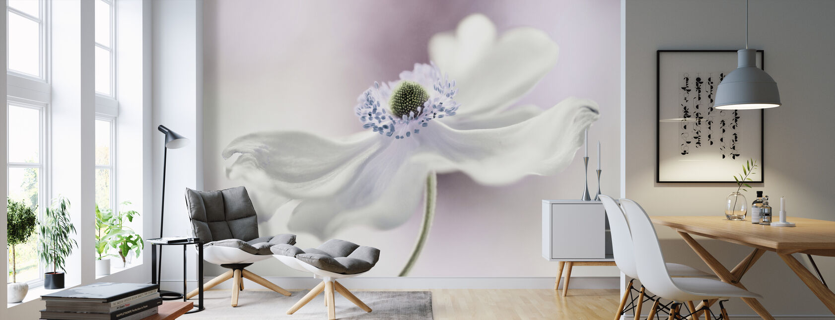 Anemone Breeze - Wallpaper - Living Room