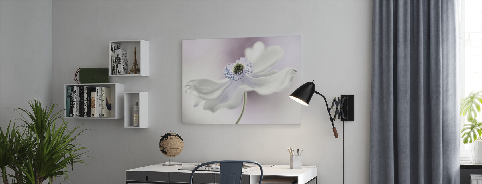 Anemone Breeze - Canvas print - Office