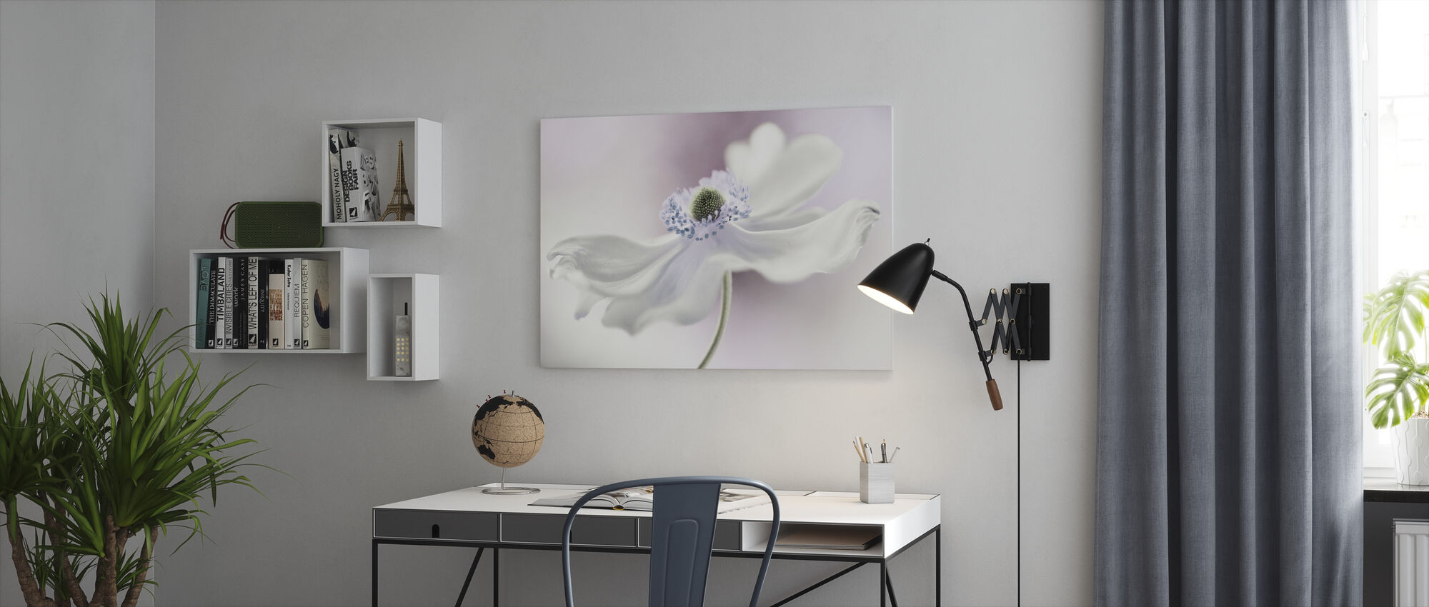 Anemone Breeze - Canvas print - Office