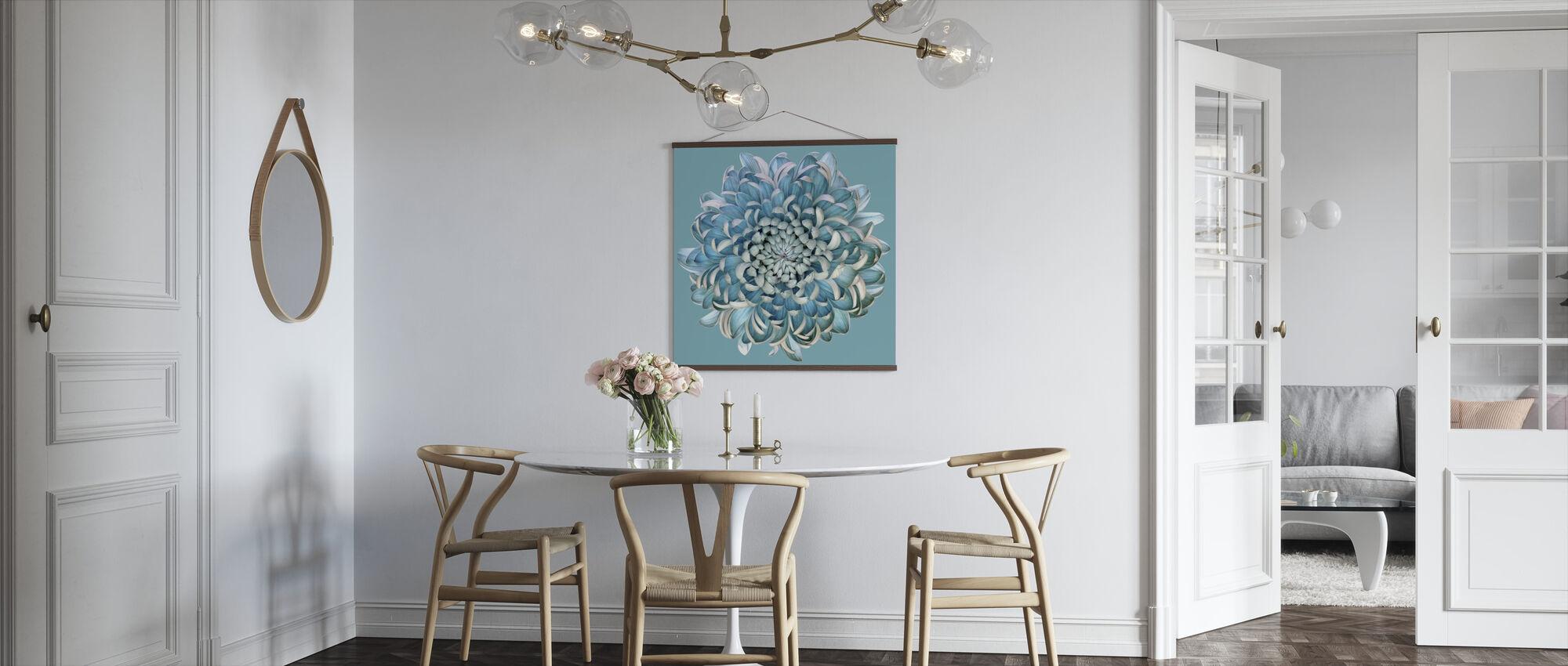 Blue Chrysanth - Poster - Kitchen