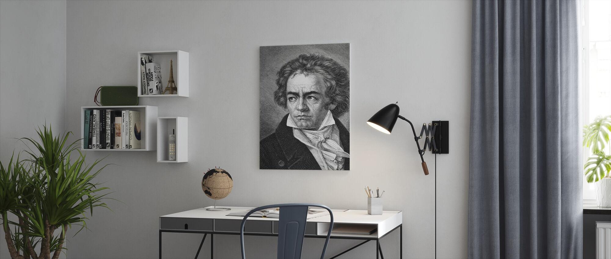 Ludwig van Beethoven - Canvas print - Office