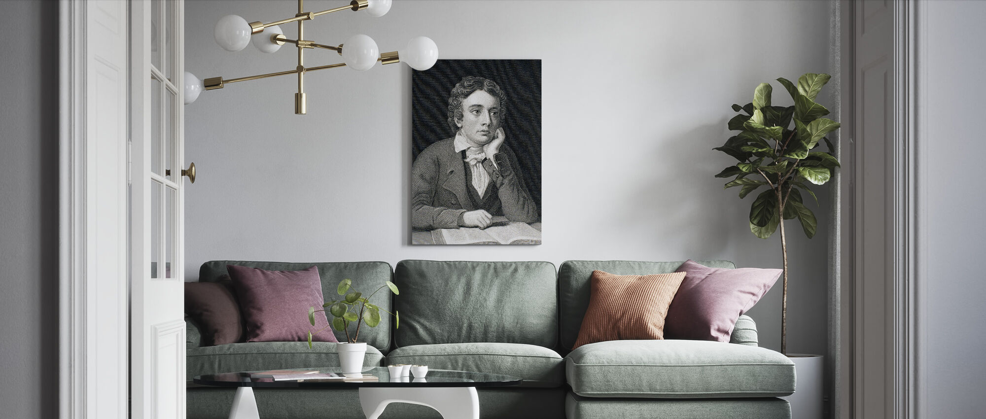 John Keats - Canvas print - Woonkamer