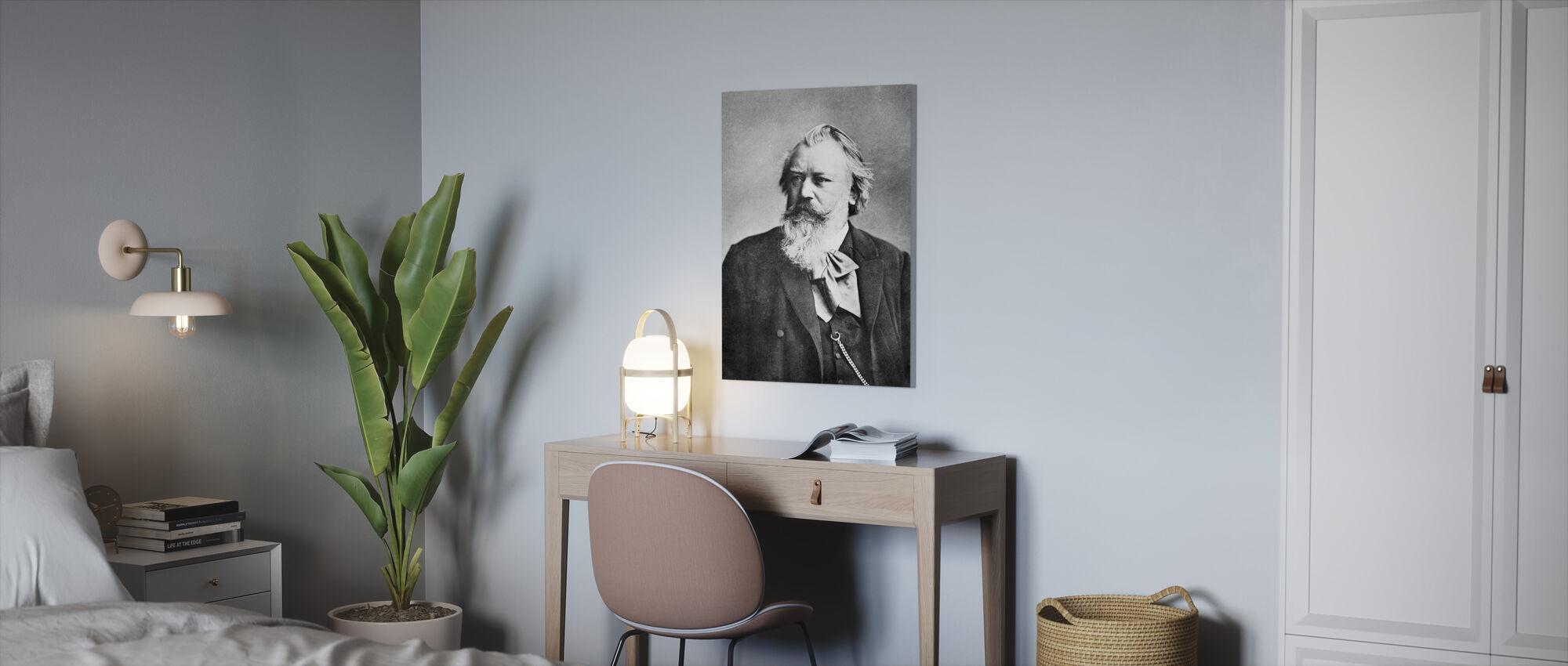 Johannes Brahms - Canvas print - Kantoor