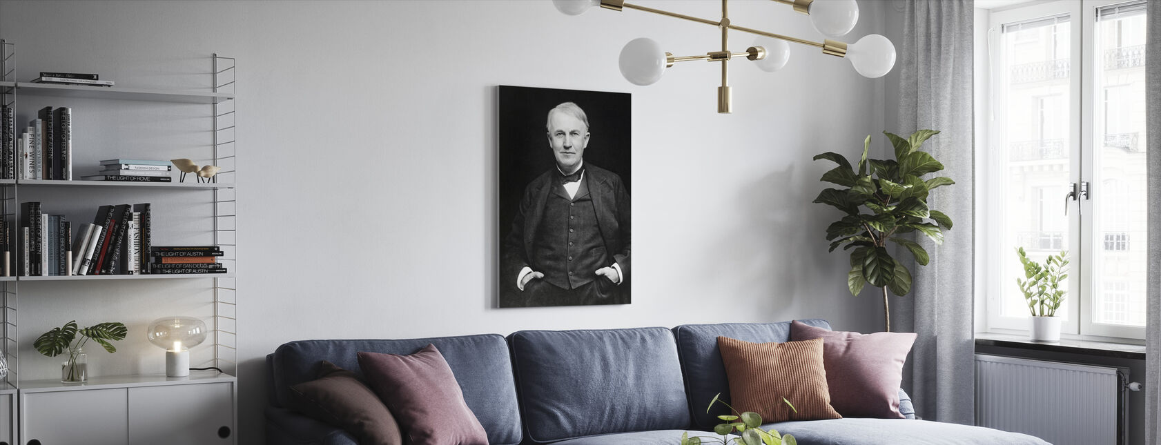 Thomas Edison - Canvas print - Woonkamer