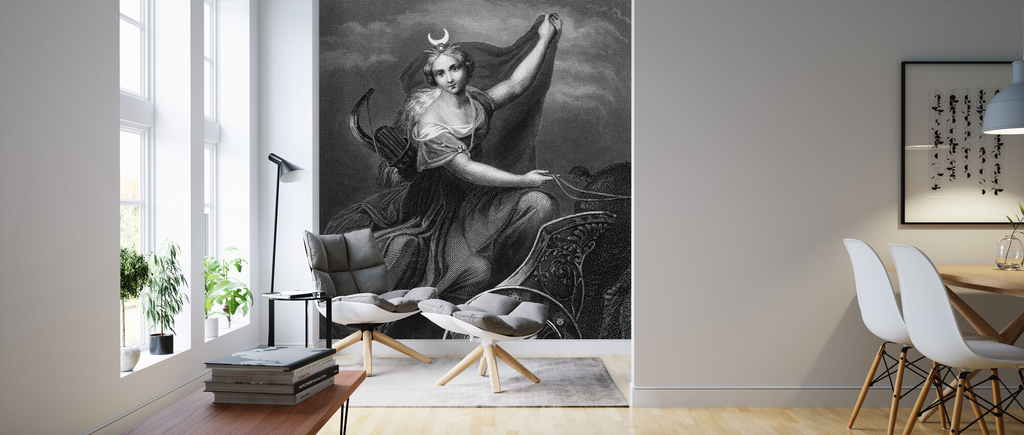 Roman Goddess of the Hunt and Moon - Wallpaper - Living Room