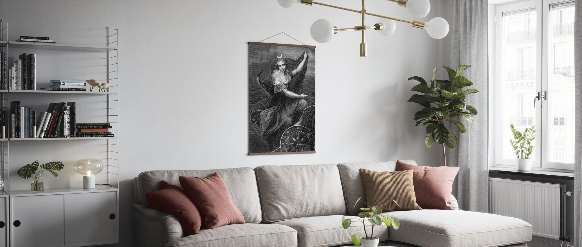 Roman Goddess of the Hunt and Moon - Poster - Living Room