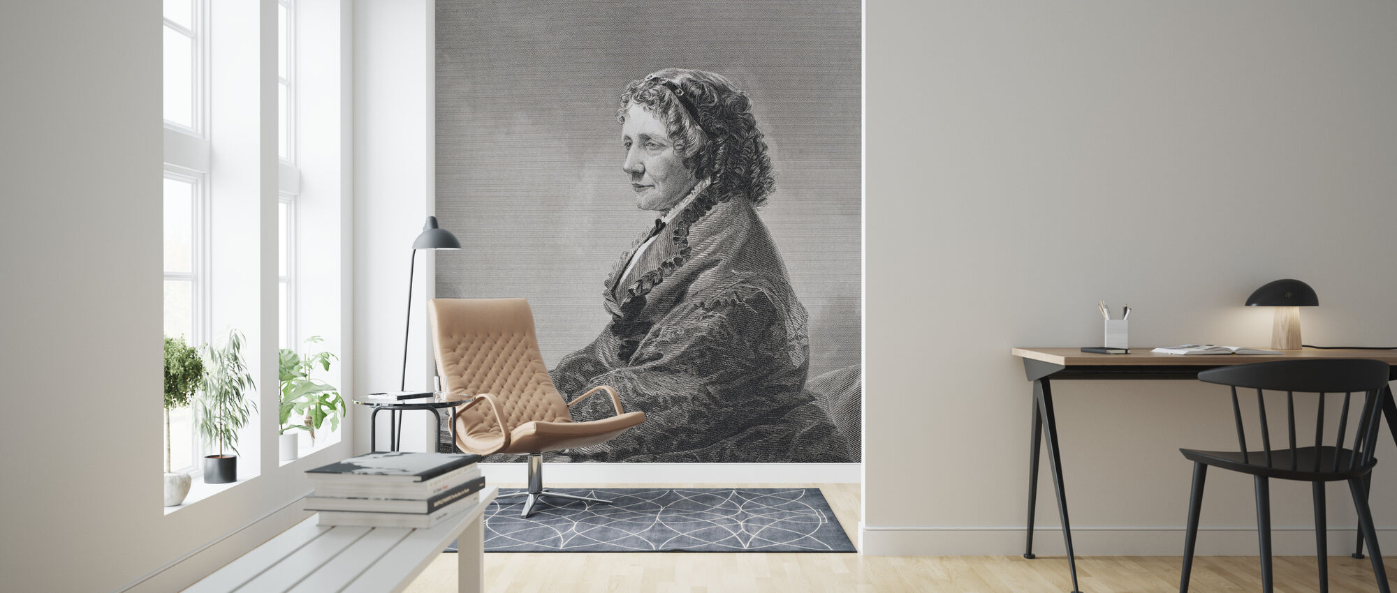 Harriet Beecher Stowe - Wallpaper - Living Room