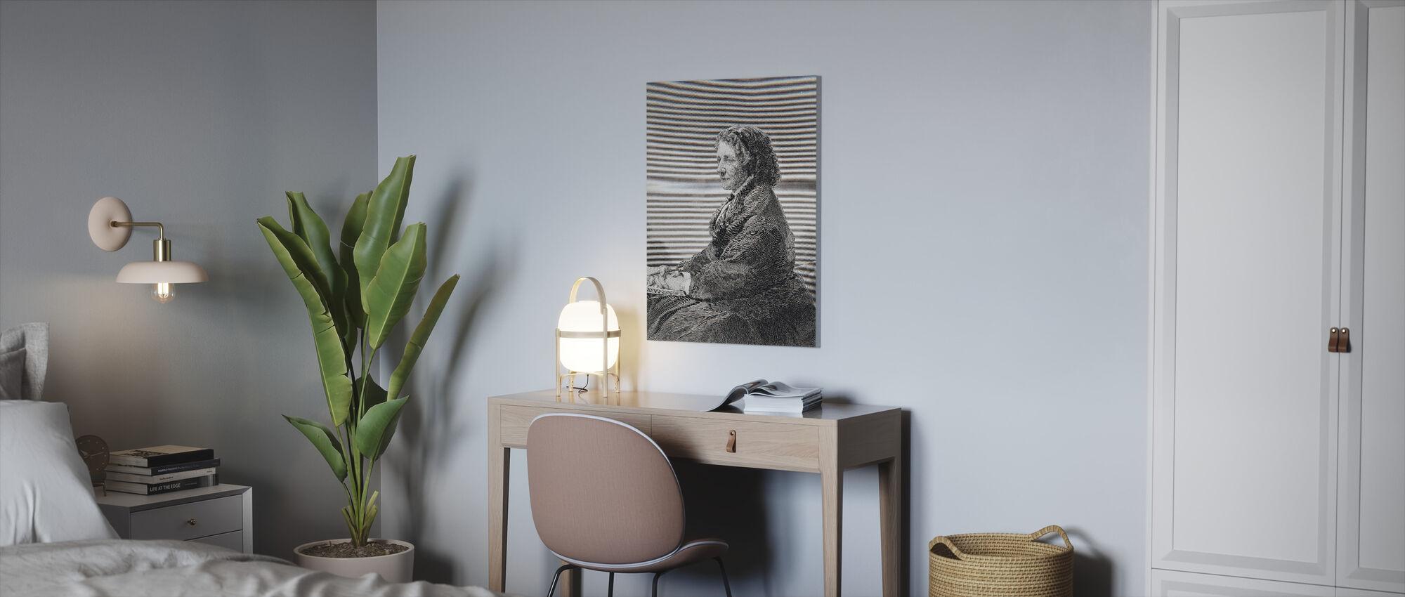 Harriet Beecher Stowe - Canvas print - Kantoor