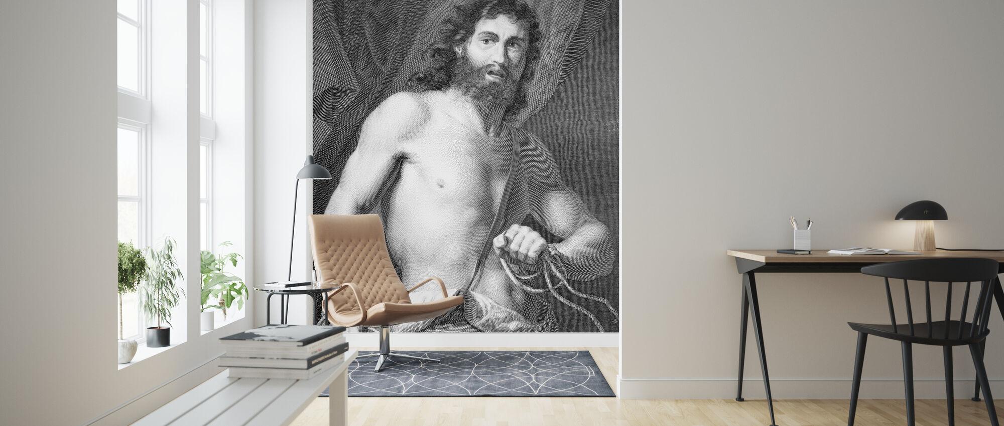 Biblical Hero Samson - Wallpaper - Living Room