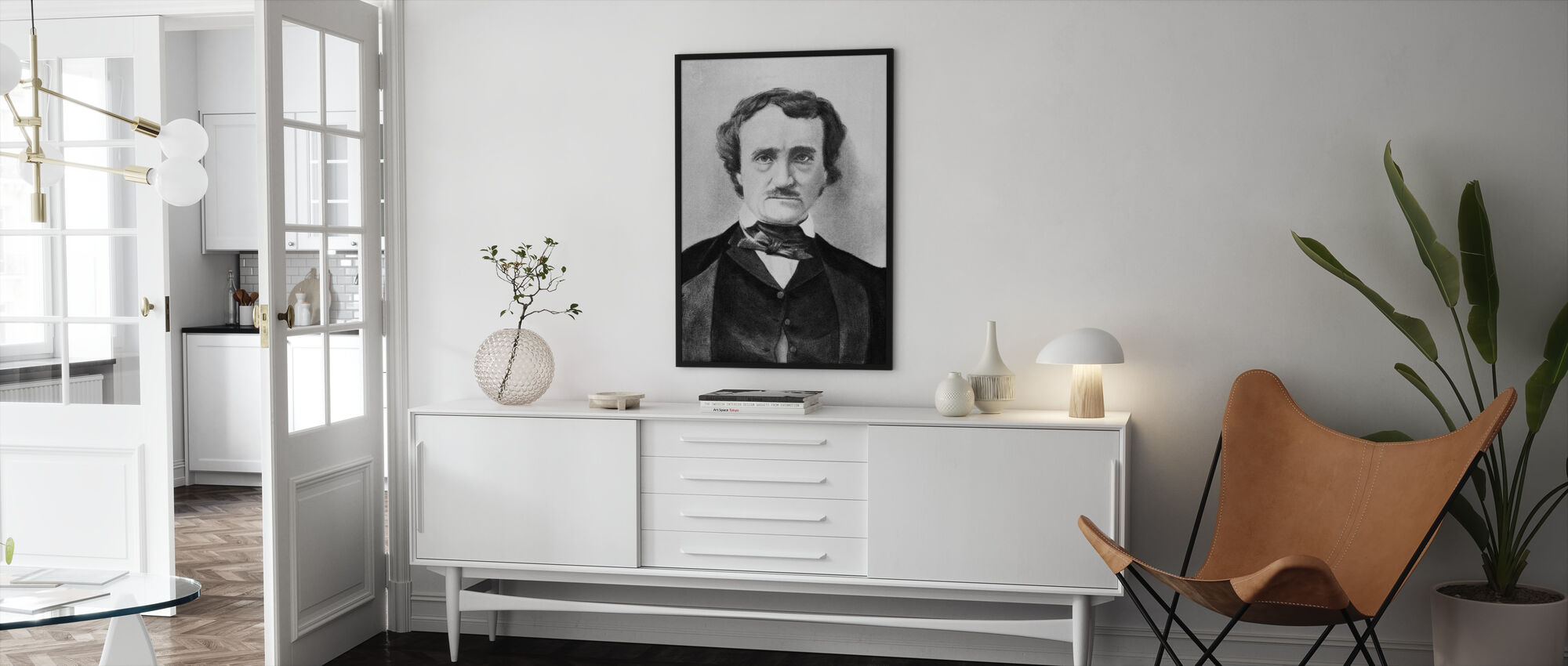 Edgar Allan Poe - Framed print - Living Room