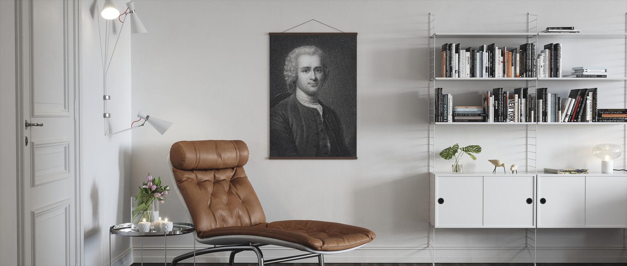 Jean Jacques Rousseau - Juliste - Olohuone