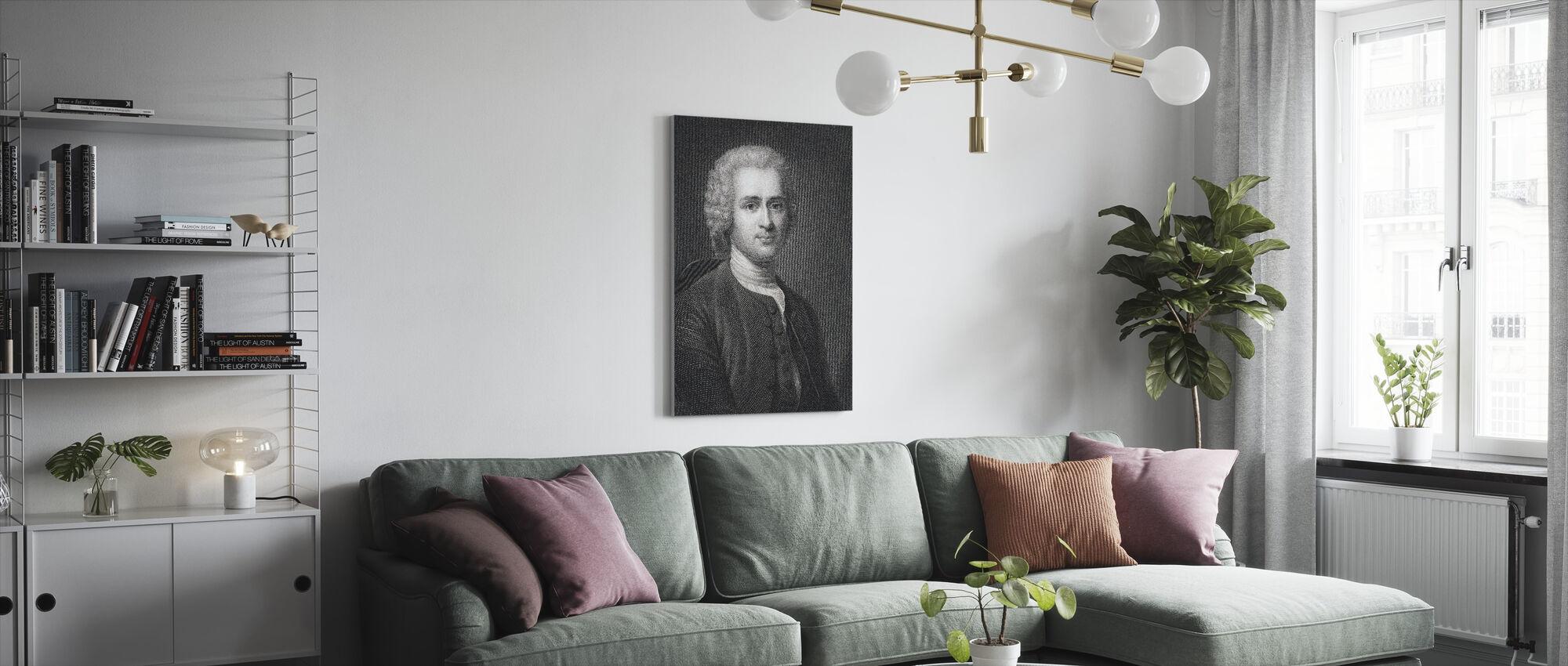 Jean Jacques Rousseau - Canvas print - Woonkamer