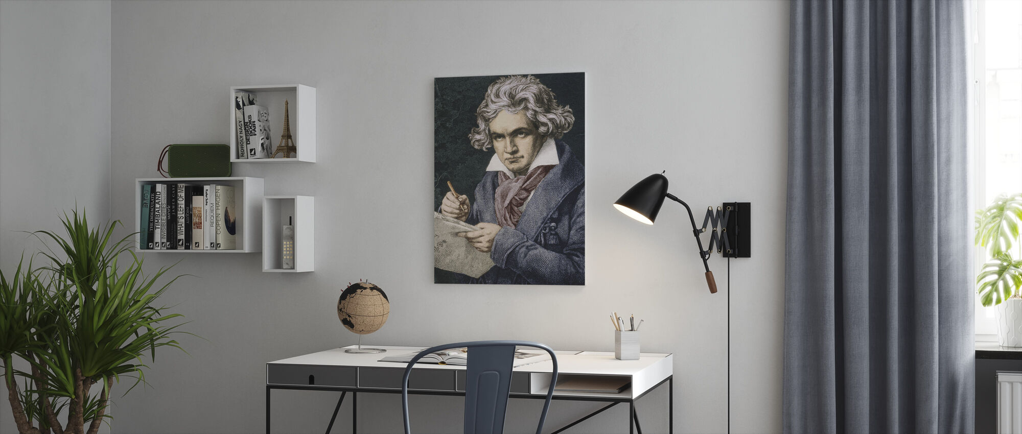 Componist Ludwig van Beethoven - Canvas print - Kantoor