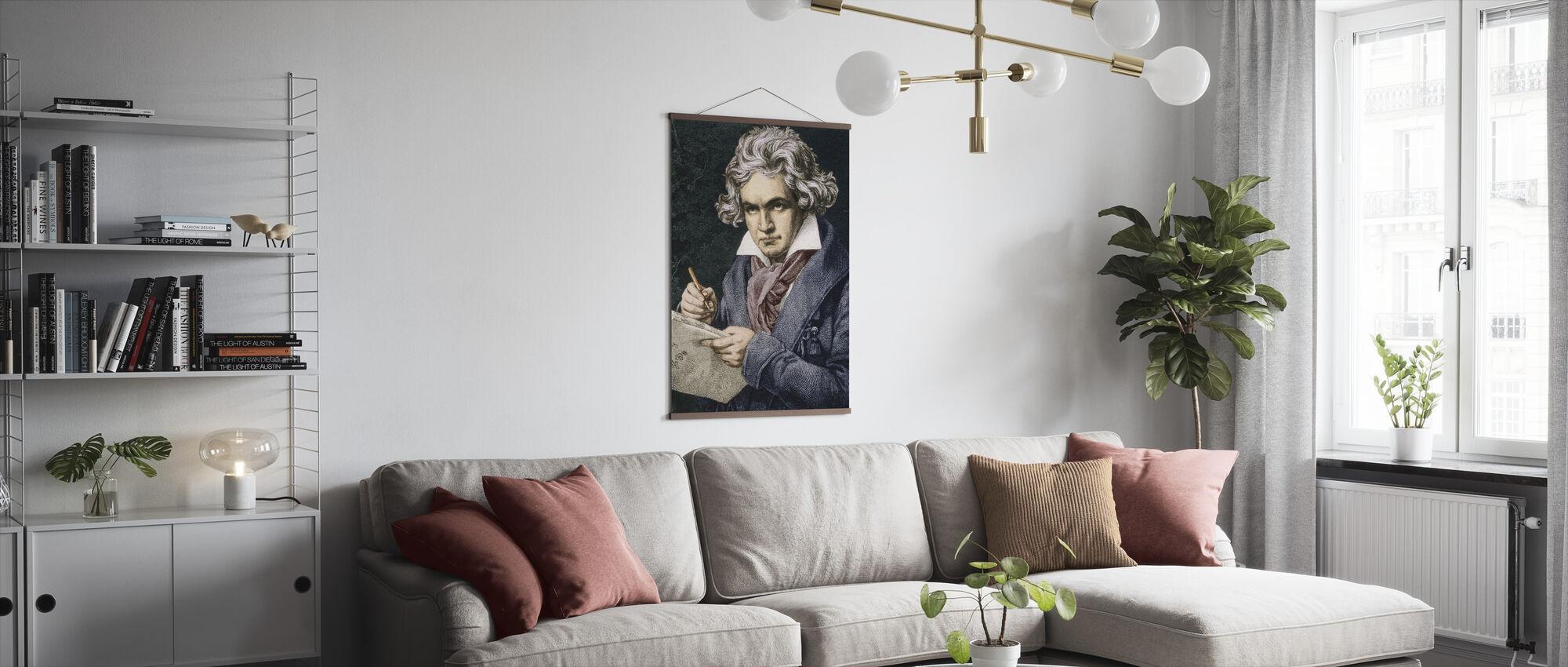 Composer Ludwig van Beethoven - Poster - Living Room