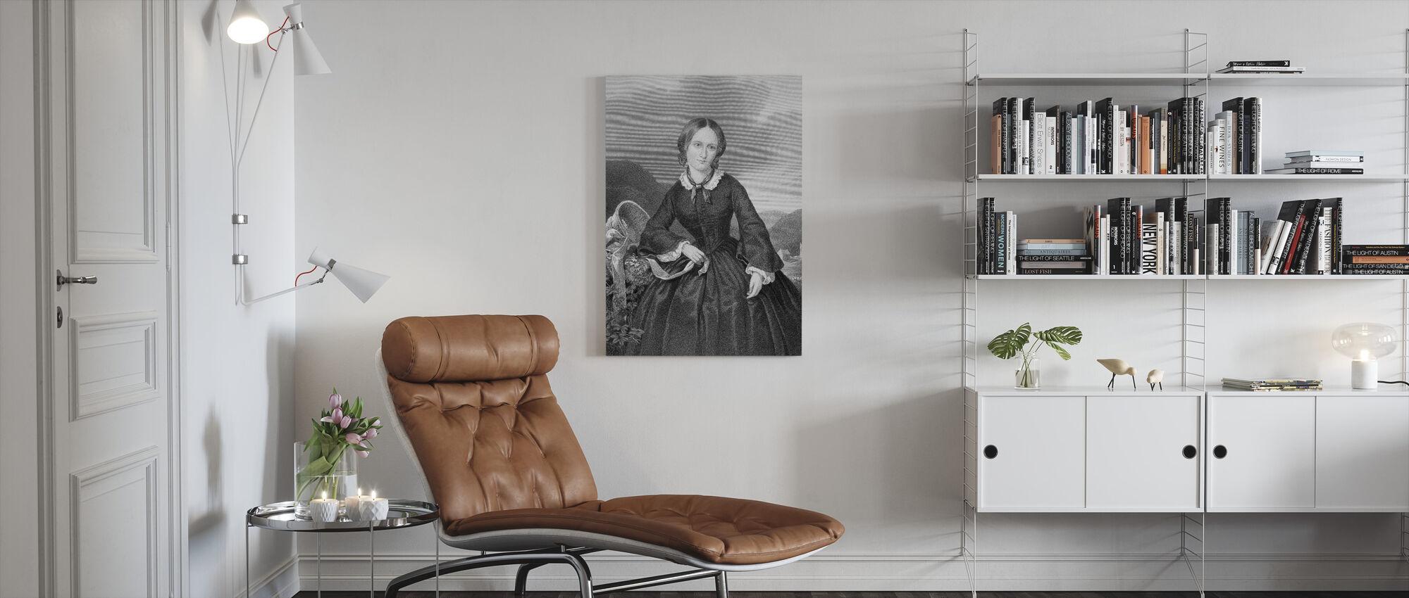 Charlotte Bronte - Canvas print - Woonkamer