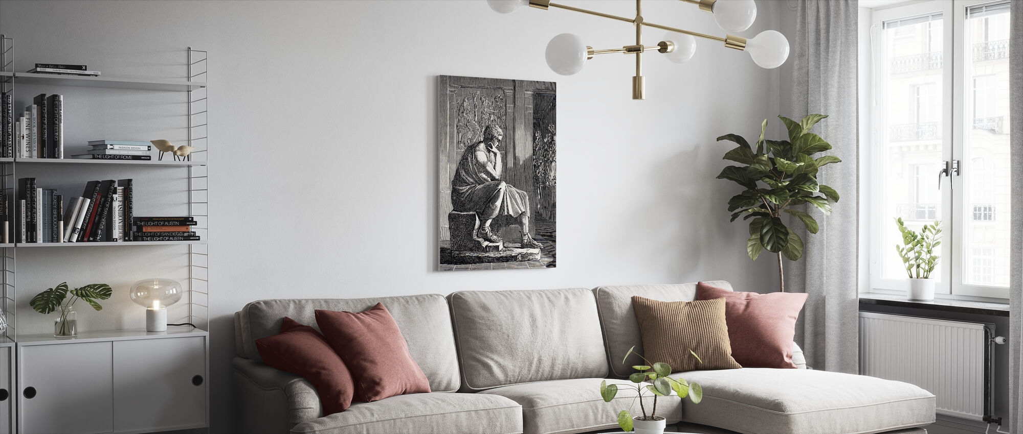 Aristoteles - Canvas print - Woonkamer
