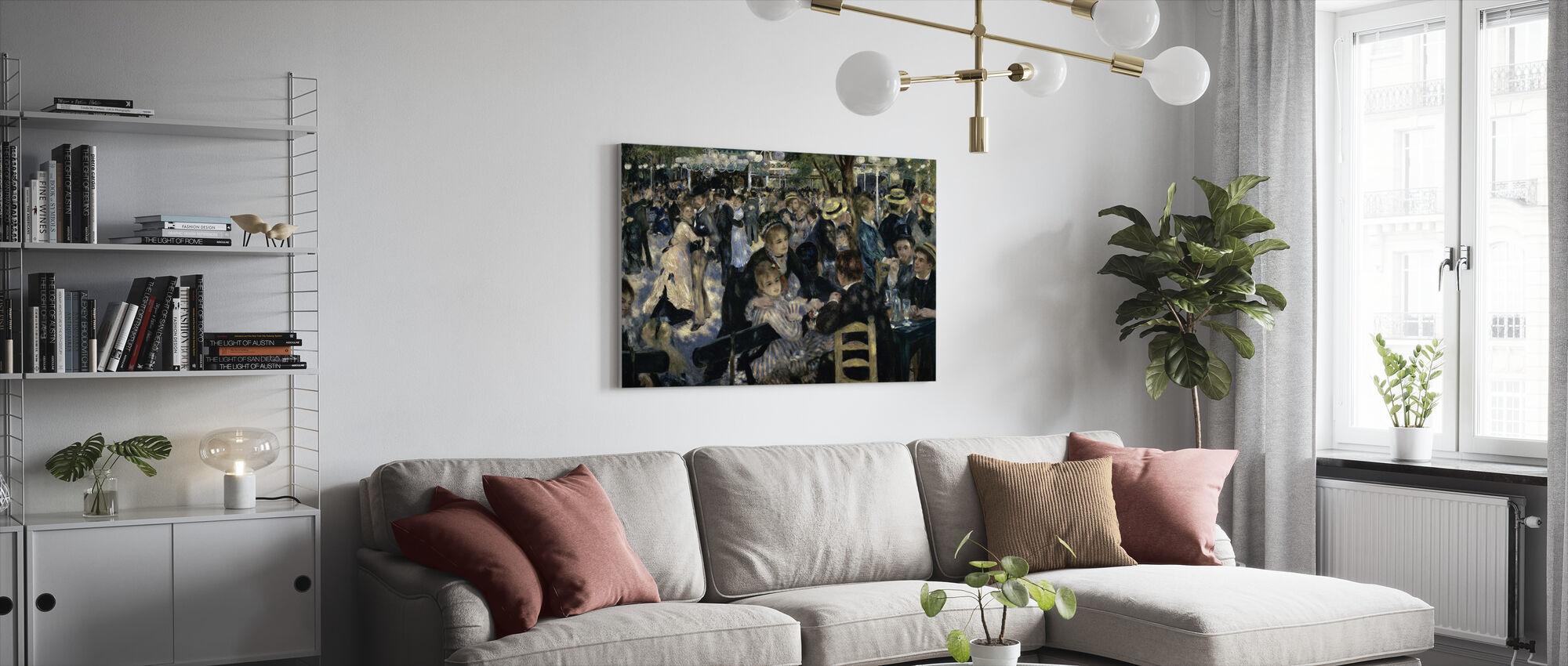 Bal bij de Moulin de la Galette - Pierre-Auguste Renoir - Canvas print - Woonkamer