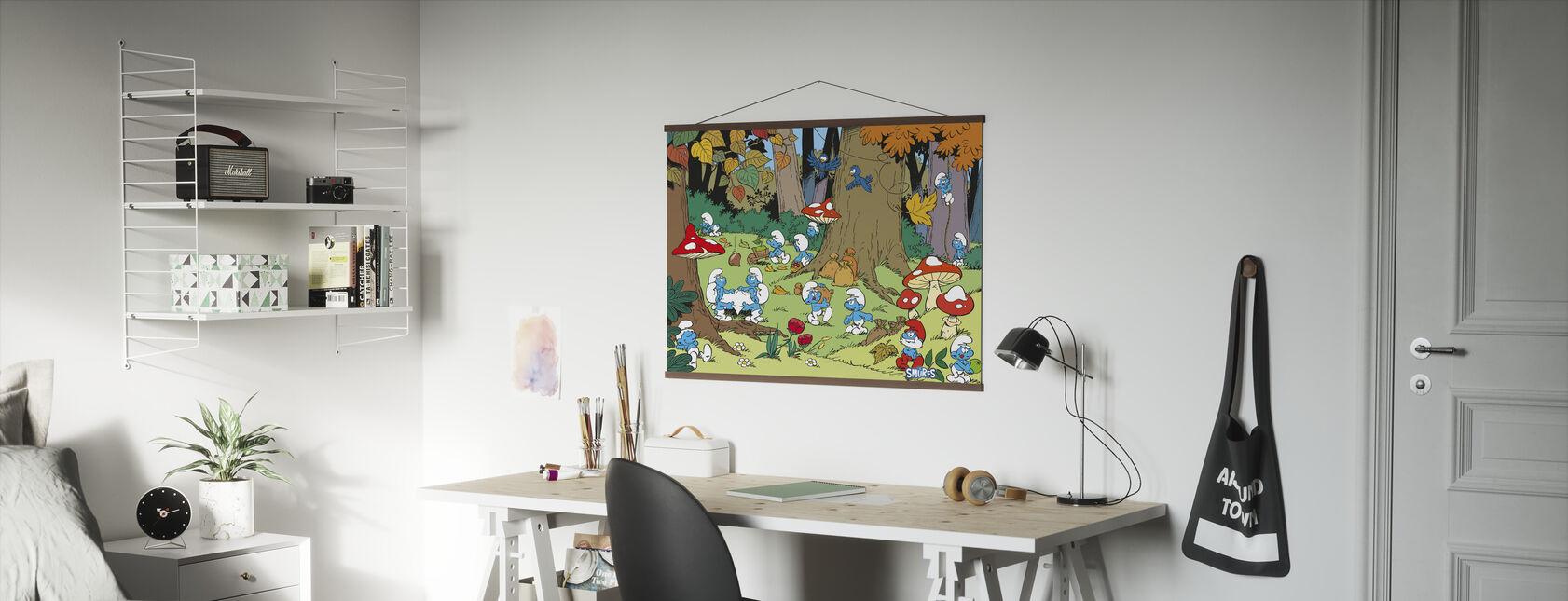 Smurfen - Herfst - Poster - Kantoor