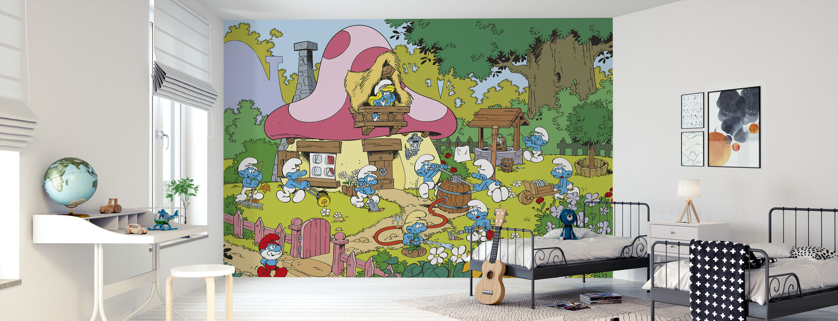 Smurfs - Spring - Wallpaper - Kids Room
