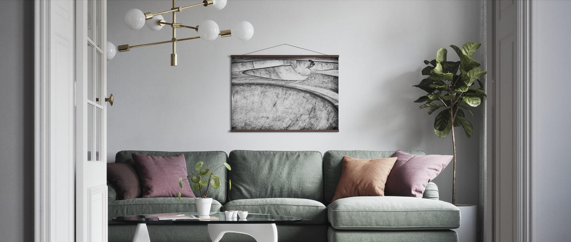 Beton Slider - Poster - Woonkamer
