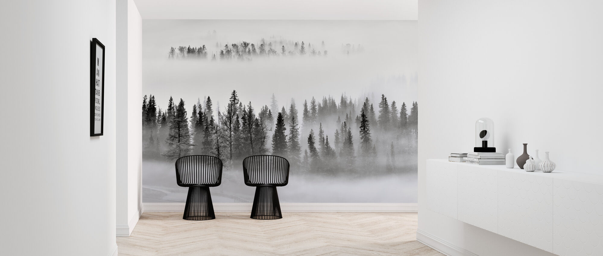 Foggy Forest - Wallpaper - Hallway