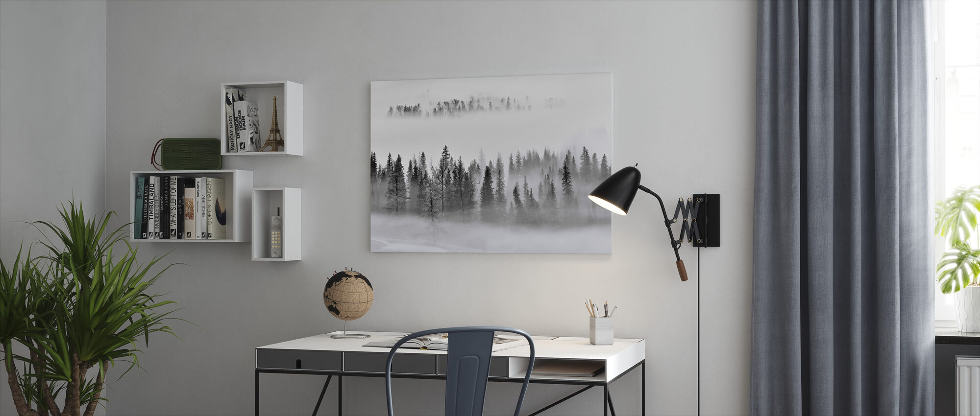 Foggy Forest - Canvas print - Office